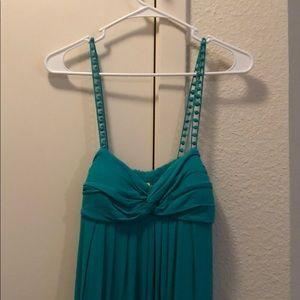 Long spaghetti string dress